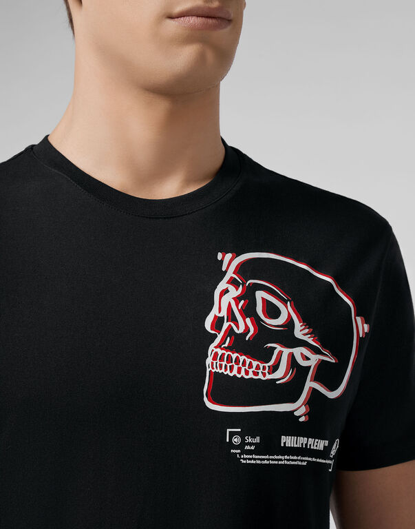 T-shirt Round Neck SS Outline Skull