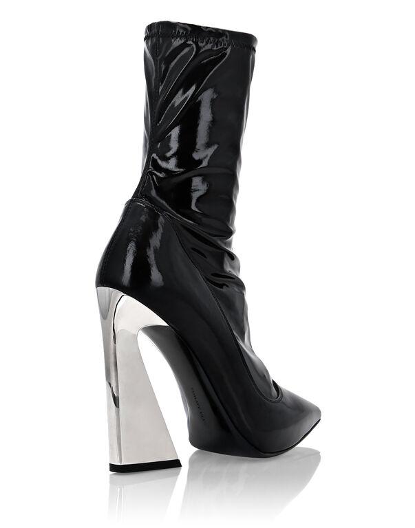 Naplak Boots High Heels Mid Iconic Plein