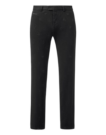 Long Trousers Embroidery Skull