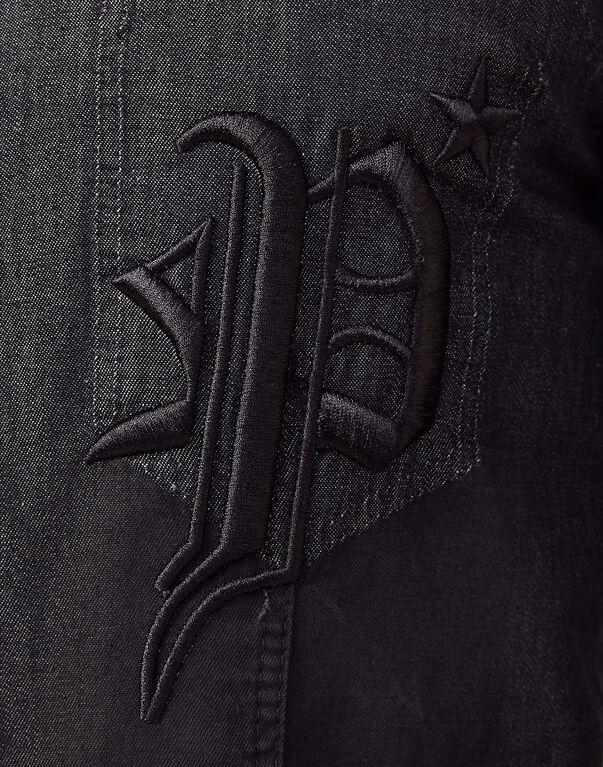"Denim Shirt Ls ""Gothic P"""