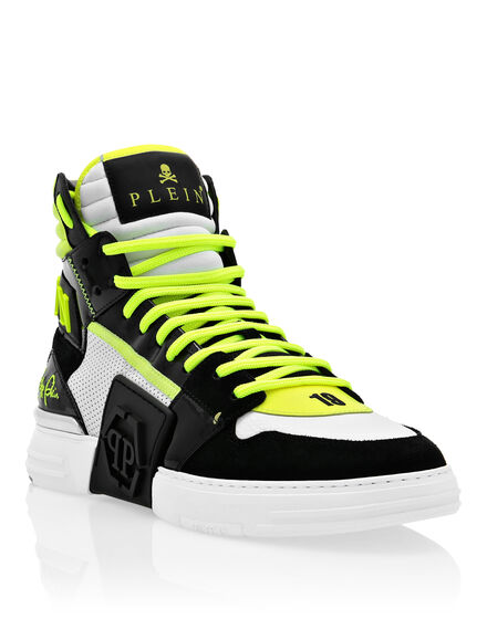 PHANTOM KICK$ mix leathers Hi-Top Sneakers
