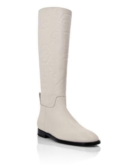 Leather Boots Lo-Heels Mid  Monogram