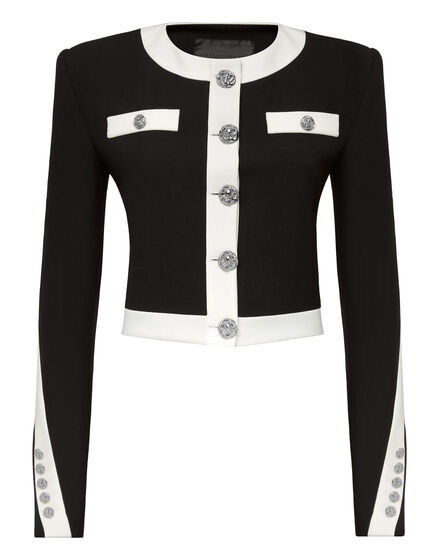 Cady Black and White Jacket