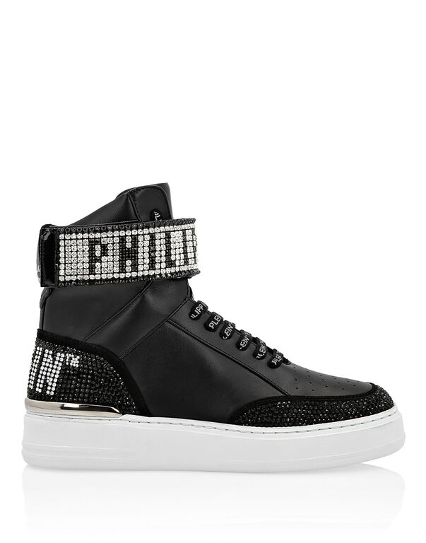 Hi-Top Sneakers Crystal Plein
