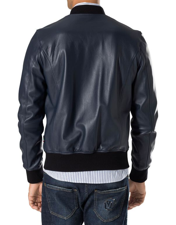 "Leather Bomber ""Yoanne"""