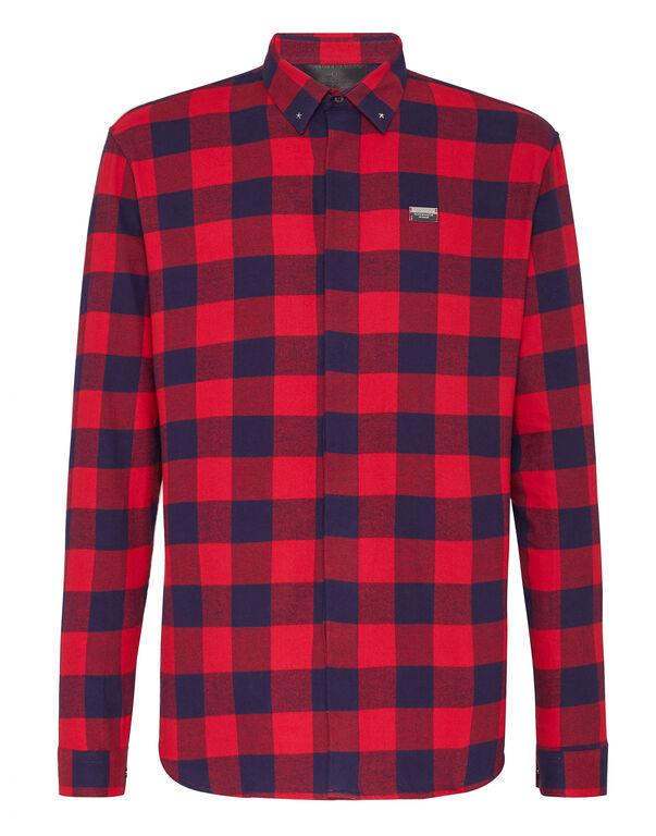 Shirt Crystal cut LS Hexagon