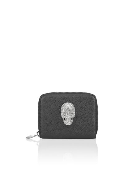 Continental wallet Skull crystal
