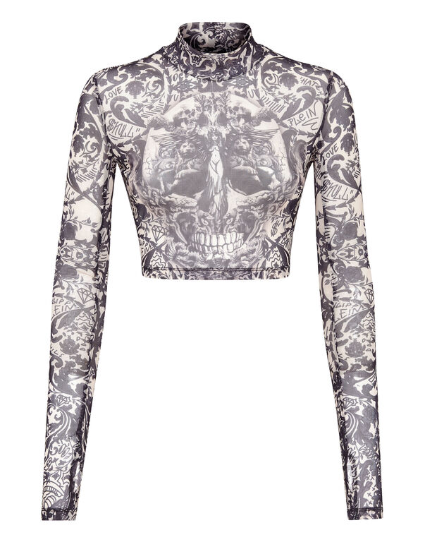LS Top Stretch Printed Tulle New Baroque