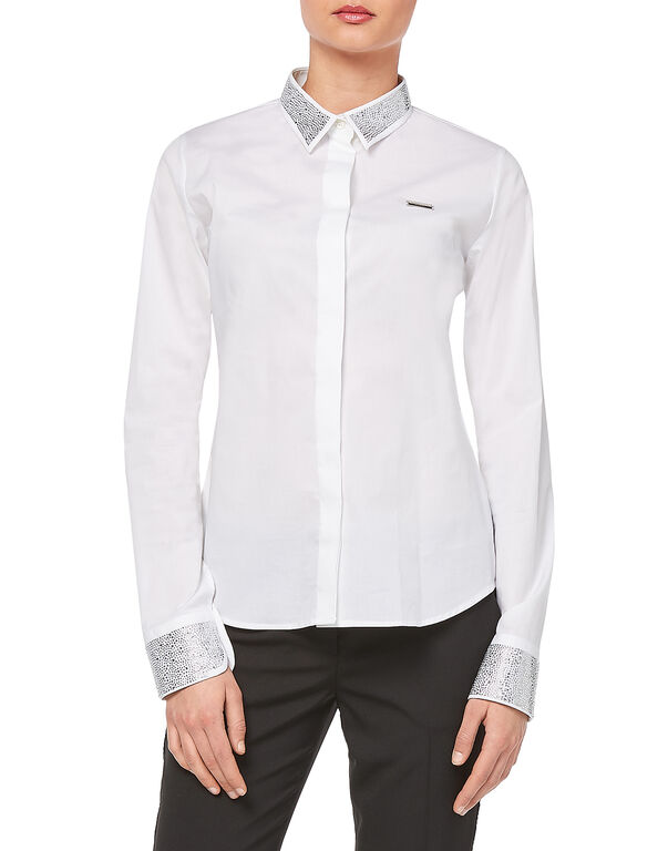 """Shirt """"Strass And Studs"""" - Basic fit"""