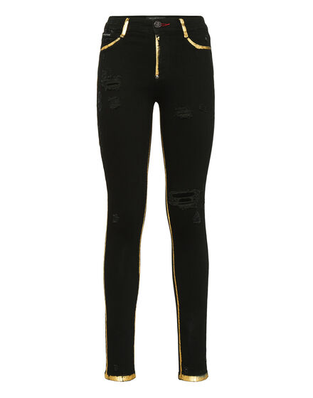 High Waist Jegging Gold