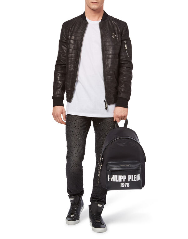 """Leather Bomber """"On Me"""""""