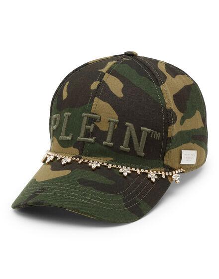 Baseball Cap Camouflage Crystal Fringe