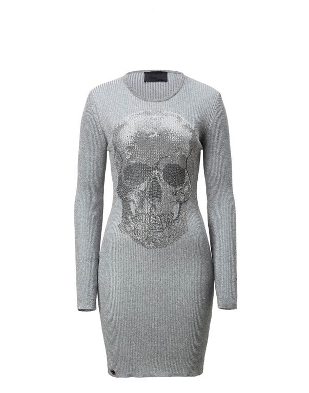 """Knit Day Dress """"Clarice Silver"""""""