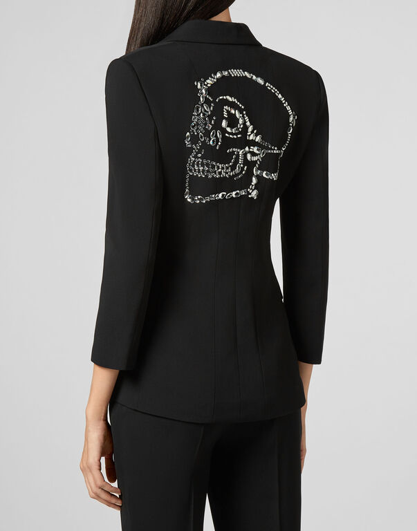 Sophia Full Color Blazer Skull strass