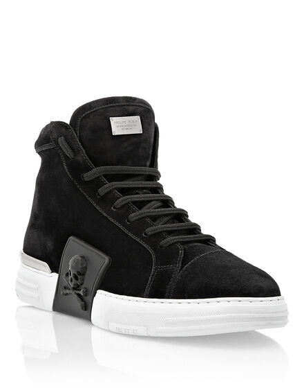 PHANTOM KICK$ Hi-Top Suede Skull