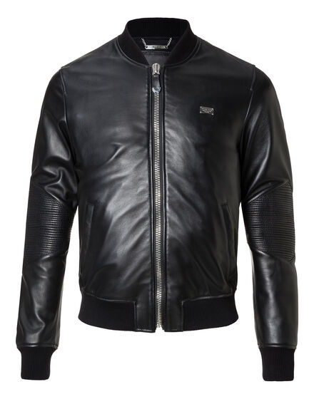 Leather Bomber Tristan