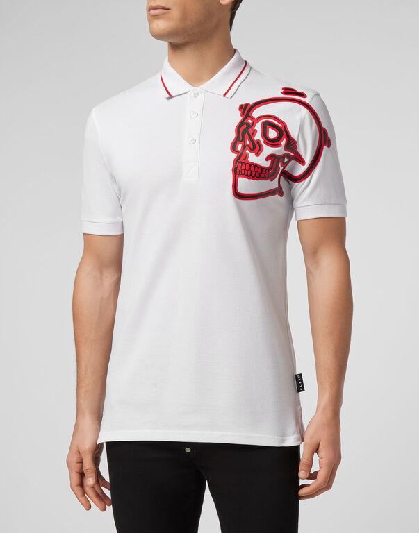 Polo shirt SS Outline  Skull