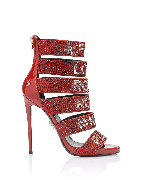 """Sandals High Heels """"Loves rock and roll"""""""