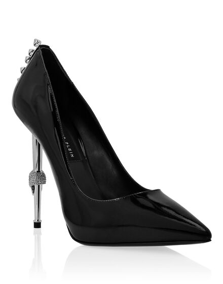 Patent Leather Decollete Hi-Heels Studs