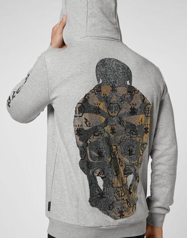 Hoodie Sweatjacket stones Skull