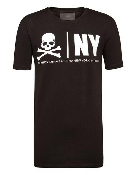 T-shirt Black Cut Round Neck MM Gothic Plein
