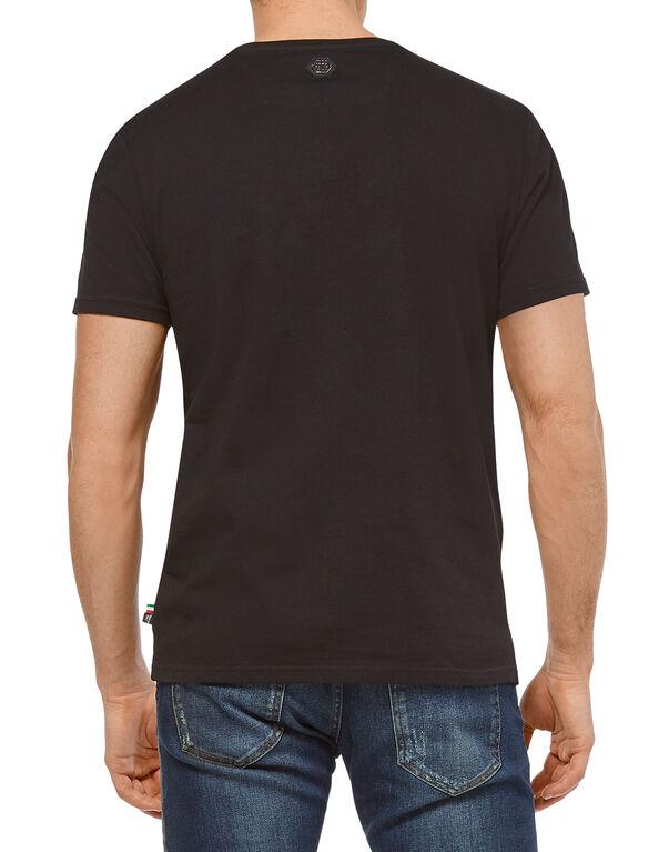"T-shirt Platinum Cut Round Neck ""Arms"""