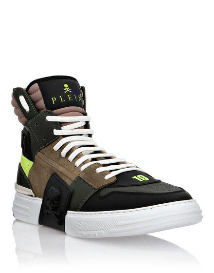 PHANTOM KICK$ Hi-Top Mixed Materials