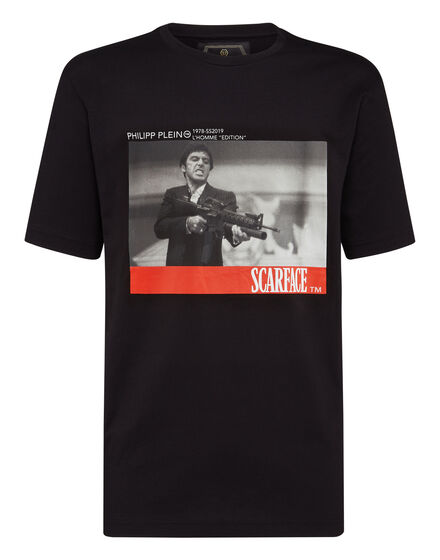 T-shirt Gold Cut Round Neck Scarface