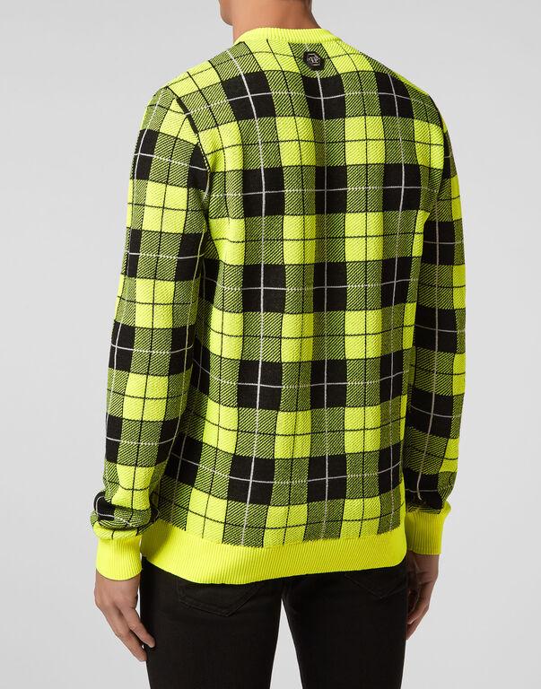Pullover Round Neck LS Tartan