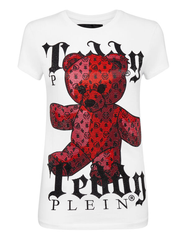 T-shirt Round Neck SS Monogram Teddy Bear