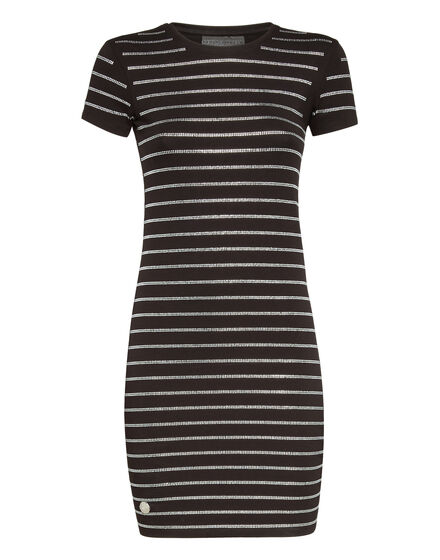 Short Dress Crystal stripes