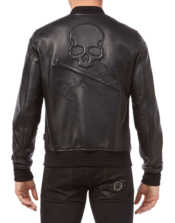 "Leather Bomber ""Someone"""