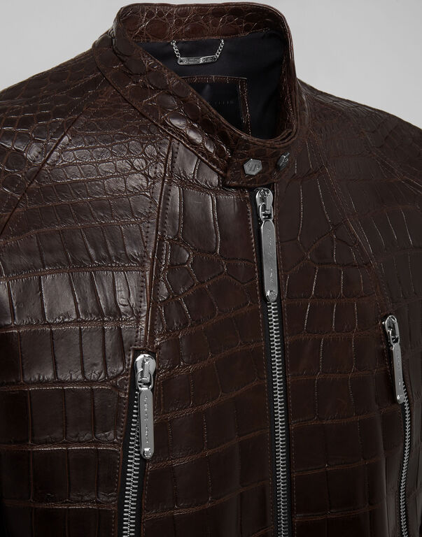"Leather Moto Jacket ""Philipp cocco"""