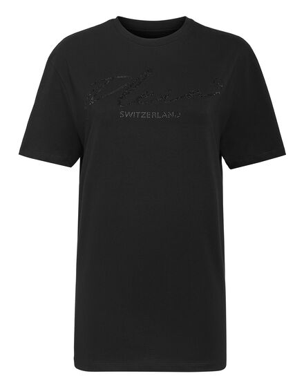 T-shirt Round Neck SS Crystal Signature