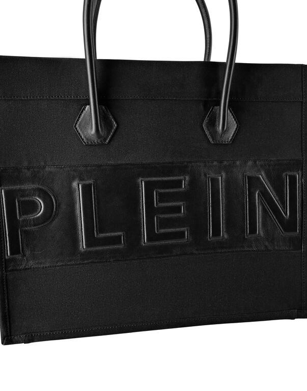 Canvas Tote Bag Leather Insert Philipp Plein TM