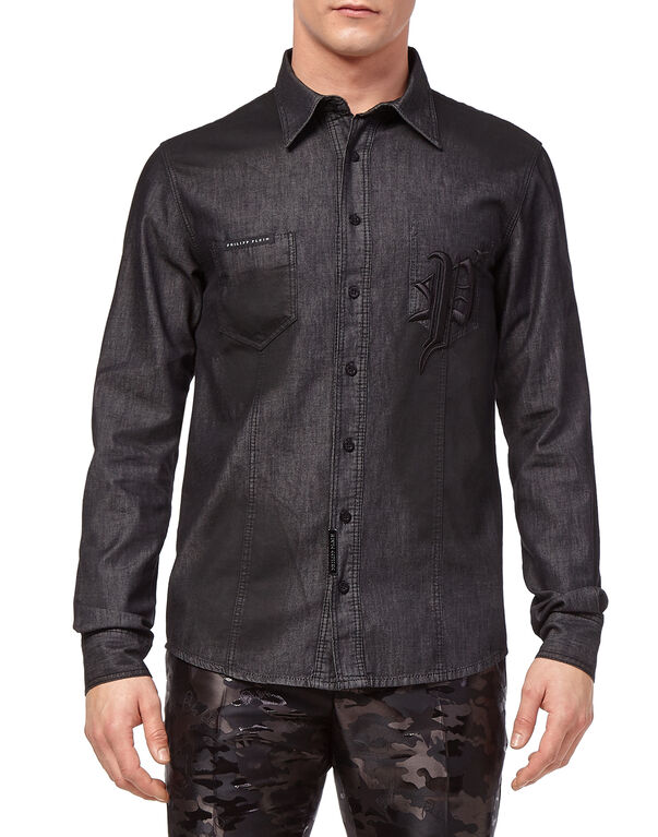 "Denim Shirt Ls ""Gothic P"""