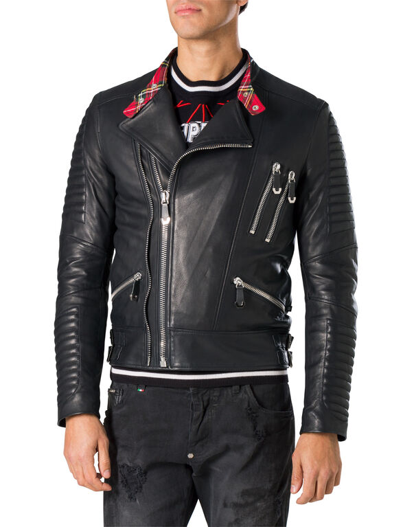 "Leather Moto Jacket ""Jimbo"""