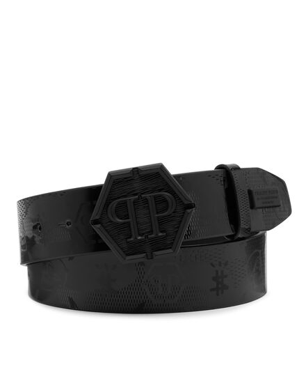Patent Leather Belt Monogram