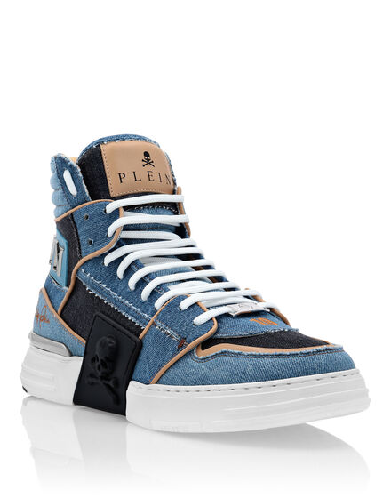Denim PHANTOM KICK$ Hi-Top Sneakers