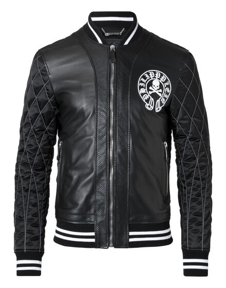 Leather Bomber Ymay