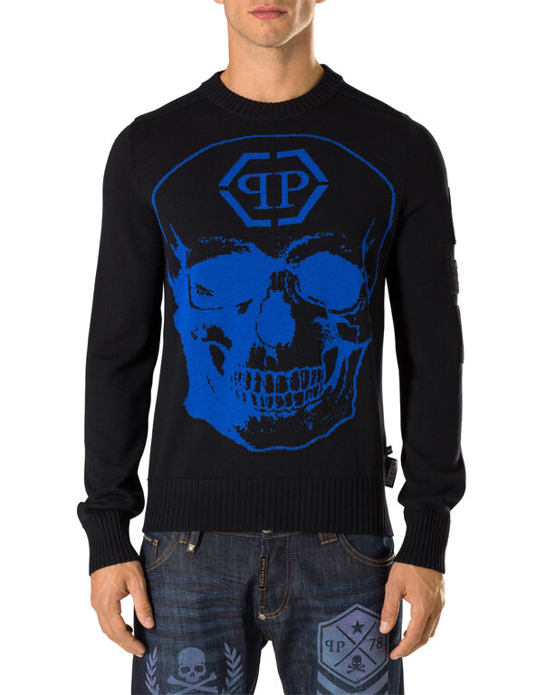 """Pullover Round Neck LS """"Give me"""""""