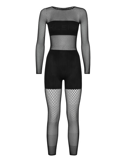 Jumpsuit Long Sleeves Seamless Mesh