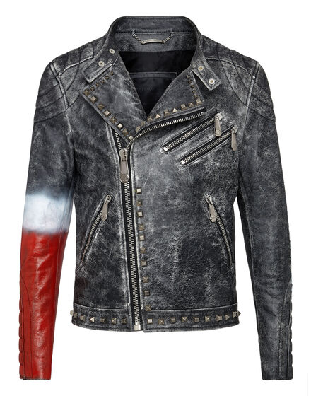 Leather Biker Flame