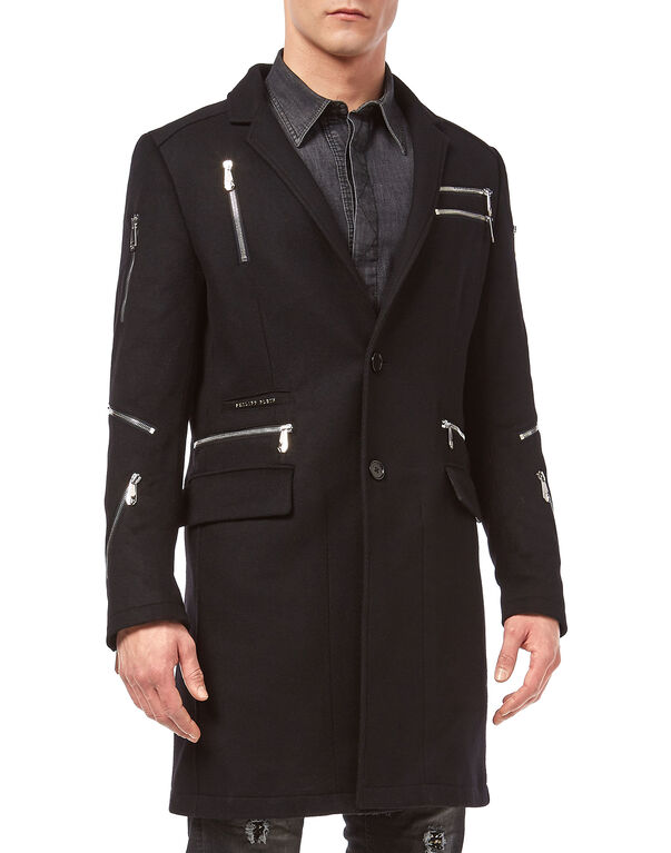 "Coat Long ""Zipped"""