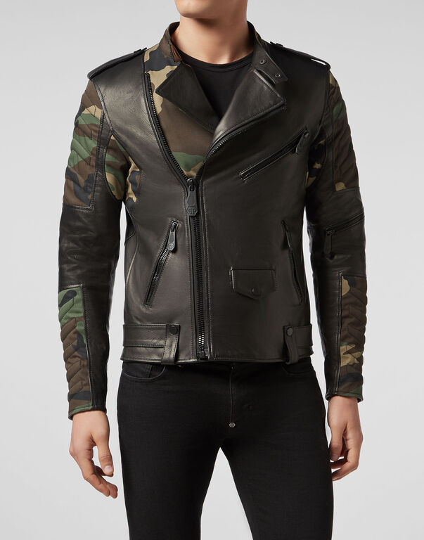 Leather Biker Camouflage