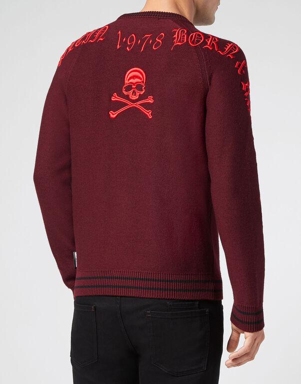 Pullover Round Neck LS Gothic Plein