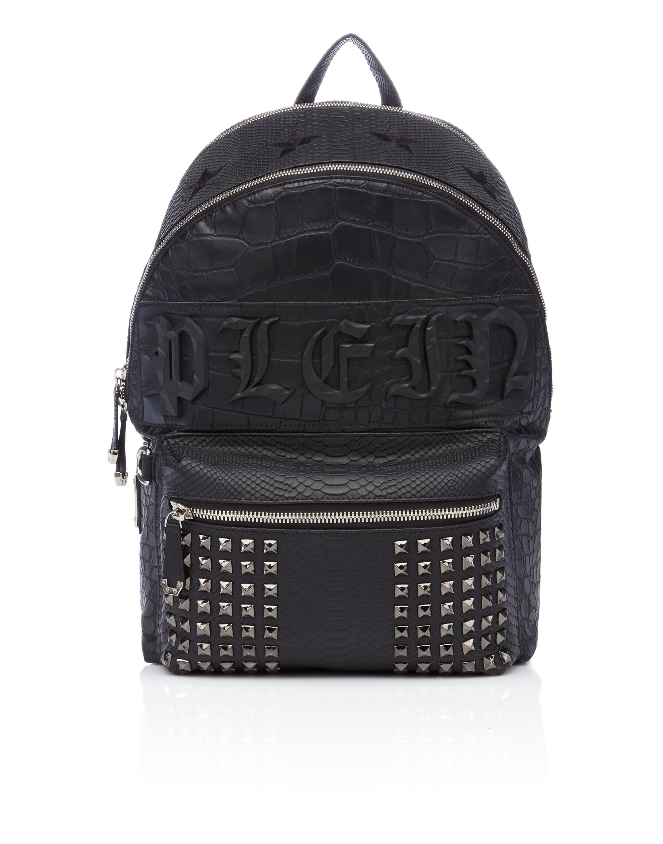 Philipp Plein Croco-embossed backpack nqQROskL