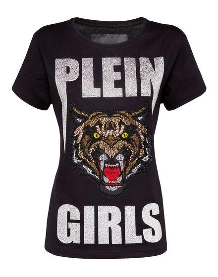 T-shirt Round Neck SS Kitty Cat Mykonos