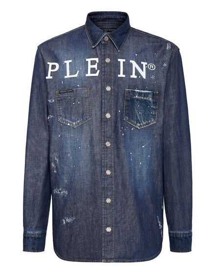 Denim Shirt Ls Iconic Plein