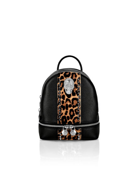 Backpack skull crystal Leopard